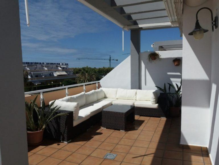 Obras en una terraza en Madrid