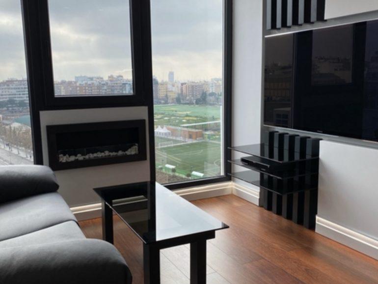Reformas en Madrid de un salón y dormitorio