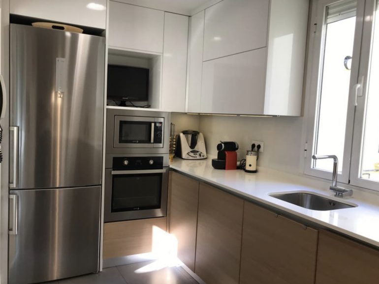 Reforma de una cocina de 15 m² en Madrid