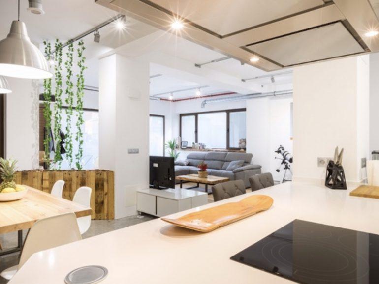 Obras en un salón de 22 metros cuadrados en Getafe